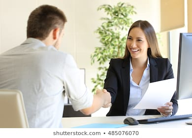 Successful job interview boss employee 260nw 485076070