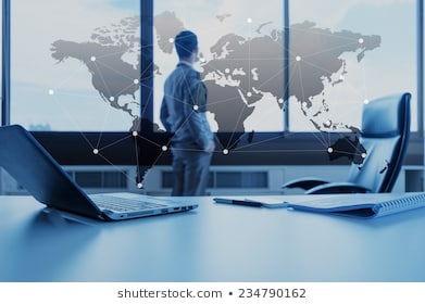 Work desk businessman laptop globalization 260nw 234790162