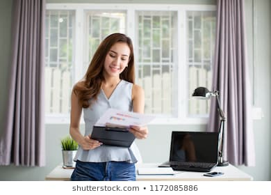 Business woman working office 260nw 1172085886