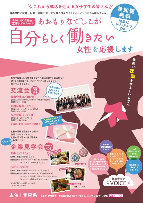 「あおもりなでしこ」と女子学生等との交流会・企業見学会