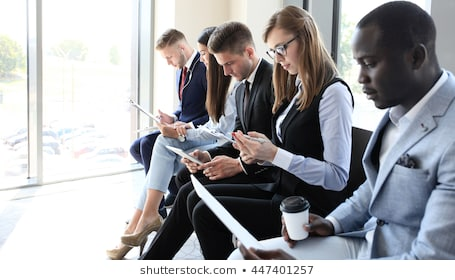 Business people waiting job interview 260nw 447401257