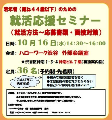 就職応援セミナー 東京労働局
