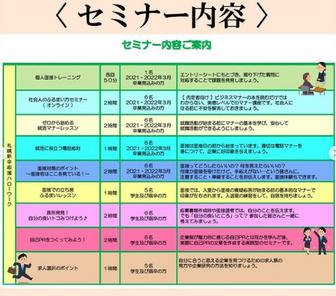 セミナー 札幌新卒応援ハローワーク